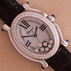 Chopard Happy Sport Oval Diamonds