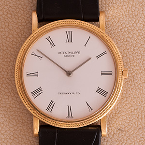 Patek Philippe Calatrava Double name Tiffany