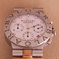 Bulgari Diagono Chronograph MOP diamonds Dial