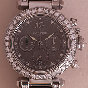 Cartier Pasha 38mm Chrono Automatic Diamonds