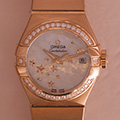 Omega Constellation Co-Axcial Star Diamonds
