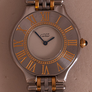 Cartier Must 21 Grain-de-Riz Large Model