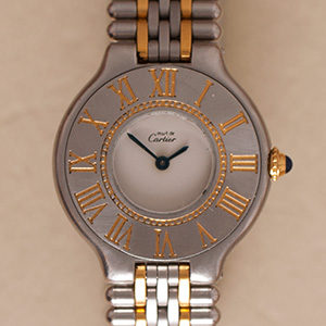 Cartier Must 21 Grain-de-Riz Small Model
