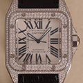 Cartier Santos 100 Large Model Diamonds