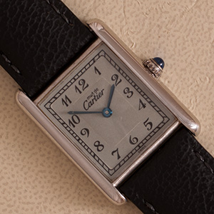 Cartier Tank Vermeil Rhodinated large model