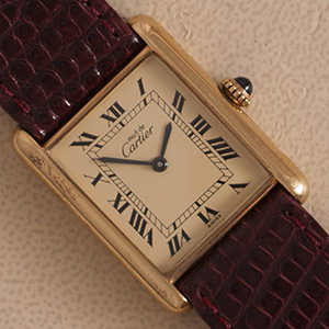 Cartier Tank Vermeil Mechanical large